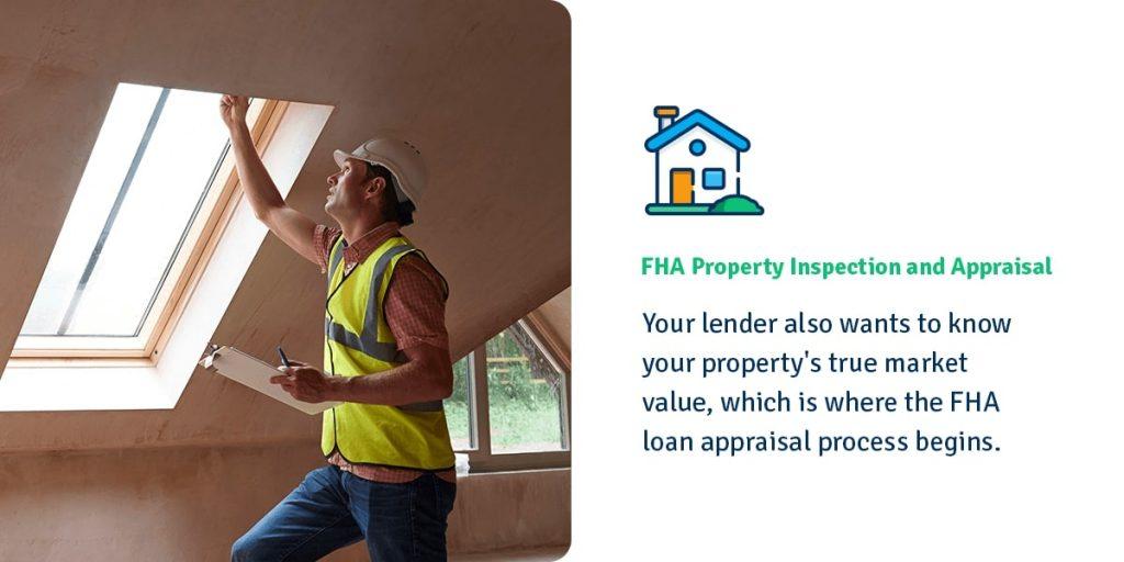 FHA home inspector examining window